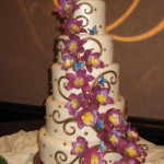 Orchid_wedding_Cake