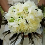 White_with-Peacock-feather-bouquet