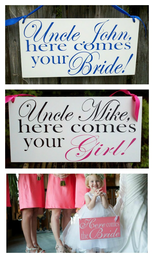 Here Comes your Girl wedding Sign