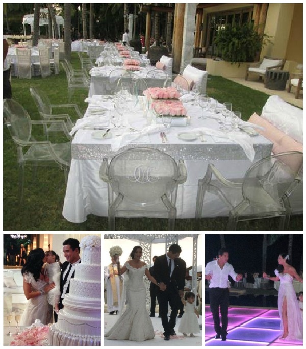 Mario Lopez Wedding Decor