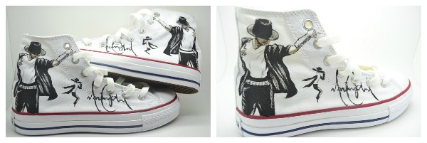 Michael Jackson Hand Painted Shoes