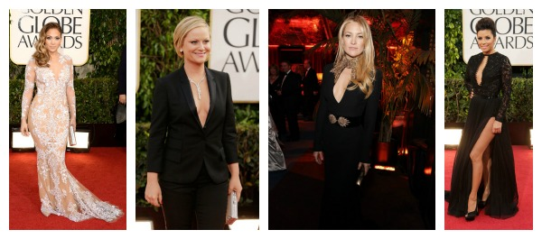 Plunging Neckline Celebrity Dresses