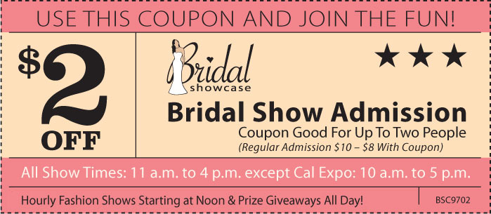 CalExpo Bridal Show Case Coupon