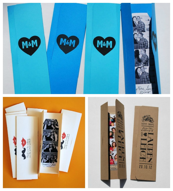 Personalzied Photo Booth Photostrip holders