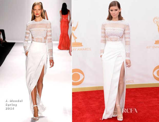 Kate-Mara-In-J-Mendel-2013-Emmy-Awards