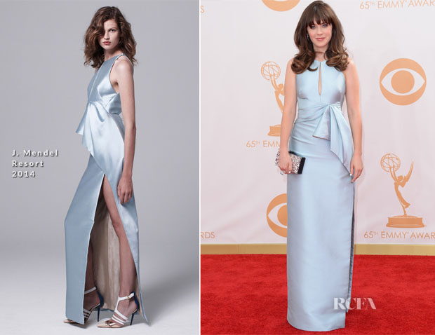 Zooey-Deschanel-In-J-Mendel-2013-Emmy-Awards