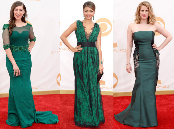Green Dresses Emmys 2013