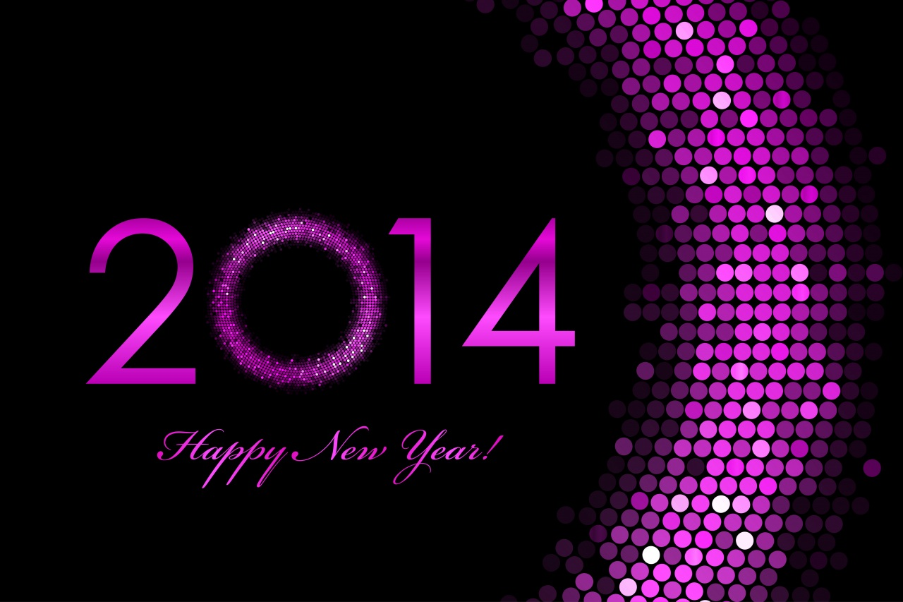 2014-Happy-New-Year-Purple-Color