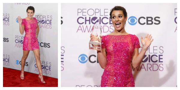 lea michele peoples choice award 2014